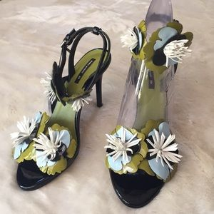 NWT- ZARA Floral Shoes
